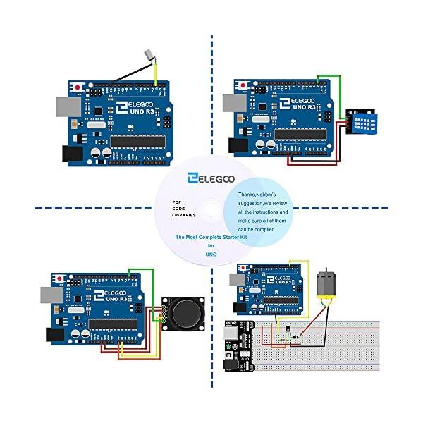 6144RY3HwwL. SS600  - Elegoo Conjunto Avanzado de Iniciación a Arduino UNO con Guías Tutorial en Español y Conjunto de Arduino UNO R3, a Demás de Relé de 5V, Modulo de Fuente de Alimentación,Pantalla LCD1602, Servomotor, Motor Paso a Paso, Placa de Desarrollo de Prototipos, etc.
