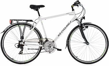 KS Cycling Herren Fahrrad Trekkingrad 28 Zoll Vegas RH 58 cm Flachlenker, weiß, 28, 165T