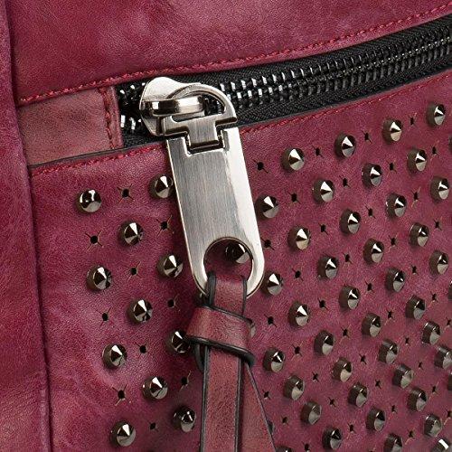 styleBREAKER, Borsa tote donna rosso rosso bordeaux taglia unica rosso bordeaux