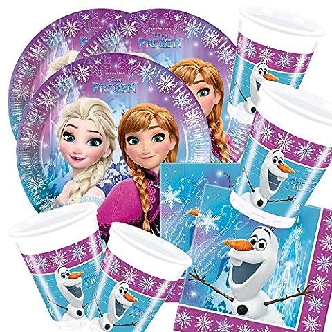 Disney Frozen la reine des Neiges Nothern Lights Kit pour fête d'anniversaire (52 pièces - 16 enfants)