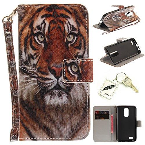Preisvergleich Produktbild Silikonsoftshell PU Hülle für LG K4 (2017) (4,5 Zoll) Tasche Schutz Hülle Case Cover Etui Strass Schutz schutzhülle Bumper Schale Silicone case+Exquisite key chain X1#KE (3)