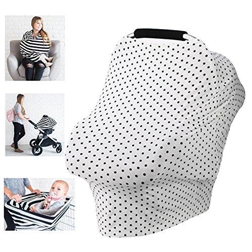 Siège auto pour bébé d'allaitement allaitement Housse de protection pour siège auto Ciel de lit en coton