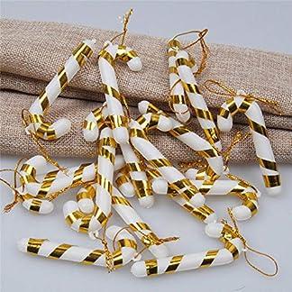 NAttnJf Árbol de Navidad Bastón de Caramelo Ornamento Colgante Decoración Navidad Fiesta en casa Regalo