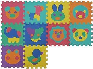 VeloVendo Tappeto Puzzle con Certificato CE e Certificazione TÜV in soffice Schiuma EVA | Tappeto da Gioco per Bambini | Tappetino Puzzle