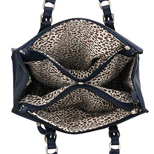 Trays for women (Braun) Haltegriffe Kunstleder Damenhandtaschen -Designer-Tasche Fronttasche Marine