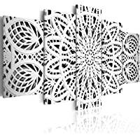 murando - Cuadro 200x100 cm - Mandala - Lienzo tejido no tejido - Abstraccion Cuadro Impresion en calidad fotografica f-A-0581-b-n Oriente Ornamento
