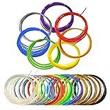 Filamenti Penna 3D, TIANSE 15 Colori 3D Filament PLA 1.75mm 5M/PCS per la stampa 3D