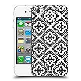 Head Case Designs Schneeflocken Schwarz-Weiss Muster Ruckseite Hülle für Apple iPhone 4 / 4S