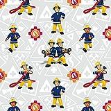 Jersey Stoff Feuerwehrmann Sam Sam & Elvis Lizenzstoff -