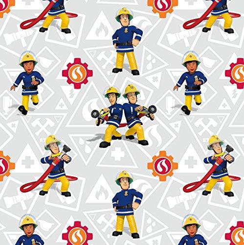 Jersey Stoff Feuerwehrmann Sam Sam & Elvis Lizenzstoff - Preis Gilt für 0,5 Meter -