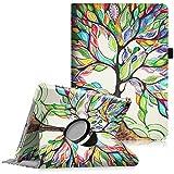 Fintie iPad Pro 9.7 Zoll Hülle - 360 Grad Rotierend Stand Cover Case Schutzhülle Tasche Etui mit Auto Schlaf/Wach Funktion für Apple iPad Pro 9.7 Zoll (2016 Modell) - Liebesbaum