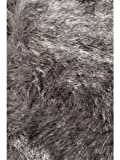 Benuta Teppiche: Shaggy Langflor Hochflor Teppich Whisper Grau ø 200 cm rund - schadstofffrei - 100% Polyester - Uni - Handgetufted - Wohnzimmer