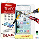 Apple iPhone 5C - Premium Tempered Glass Crystal Clear LCD Screen Protector Guard Cover Ultra Thin Lighweight & Polishing Cloth + Green 2 IN 1 Dust Stopper GSVL1 BY SHUKAN�, (TEMPERED GLASS)