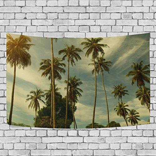 jstel Palmen Wandteppich für Dekoration für Wohnung Home Decor Wohnzimmer Tisch Überwurf Tagesdecke Wohnheim 152,4x 101,6cm, Textil, multi, 51x60 inch (Farbe Multi Dye Tie)