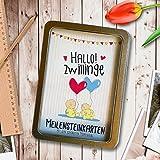 Hallo! Zwillinge - 31 Meilensteinkarten von der Geburt bis zum ersten Lebensjahr - Ein tolles Geschenk zur Schwangerschaft für die Familie - Baby Milestone Cards Zwillinge (Jungen & Mädchen) - Deutsch
