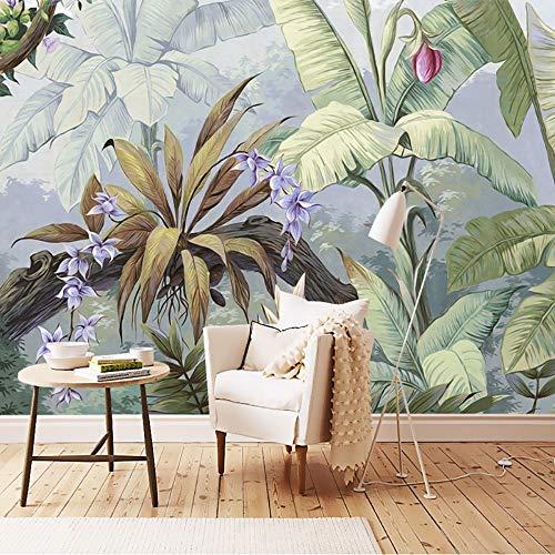 Svghfk Tapete Wandbild 3D Regen Wald Pastoralen Europäischen Stil Wohnzimmer Galerie Restaurant Hintergrund Wandbild Für Wände, 250 * 175 cm - Moderne Damast-galerie