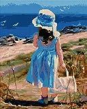 Diamond Vollbedeckung mit Holzrahmen Painting Set Bild 40 x 50 Diamant Malerei Stickerei Handarbeit Basteln Mosaik Steine Blumen Korb Haus am Bach (GJ566)