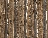 A.S. Création Papiertapete Dekora Natur Ökotapete Tapete in Dielen Optik 10,05 m x 0,53 m beige braun Made in Germany 958371 95837-1