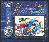 Superman per bambini-Set orologio e portafoglio, prodotto per bambini, ragazzi e ragazze, ideale come regalo di Natale ', venduto da regalo, motivo: Happy Bargains Ltd
