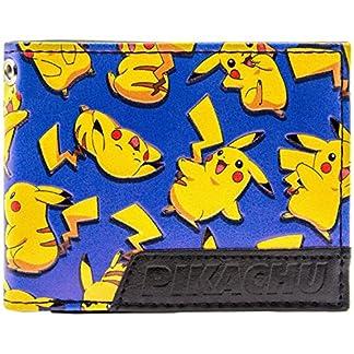 6145UOG2UWL. SS324  - Cartera de Pokemon Pikachu Ratón Feliz eléctrico Azul