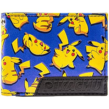 6145UOG2UWL. SS416  - Cartera de Pokemon Pikachu Ratón Feliz eléctrico Azul