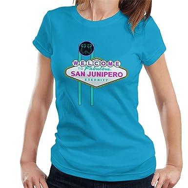 244004f3d Black Mirror Welcome To San Junipero Sign Women's T-Shirt: Amazon.co ...