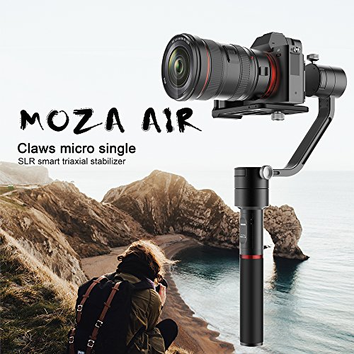Affordable MOZA Air 3 Axis Handheld Gimbal Stabilizer with Dual Handheld Grip and Wireless Thumb Controller for Cameras Between 1.1Lb-5.5Lb Sony A7 Series Panasonic GH5 GH4 GH3 BMPCC Canon EOS 5D Mark IV Review