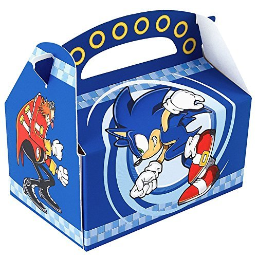 Sonic the Hedgehog Empty Favor Boxes (4) (Sonic Supplies Birthday Party)