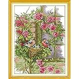 Anself Fai da te cucito a mano contato punto croce imposta modello famiglia degli uccelli 14CT Kit ricamo ricamo 37 * 47cm decorazione domestica