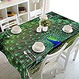 Grüner Pfau offener Bildschirm, staubdichte 3D Tischdecken, Umwelt geschmacklos, Digitaldruck, Teemaschine Tuch , #1 , 150*26