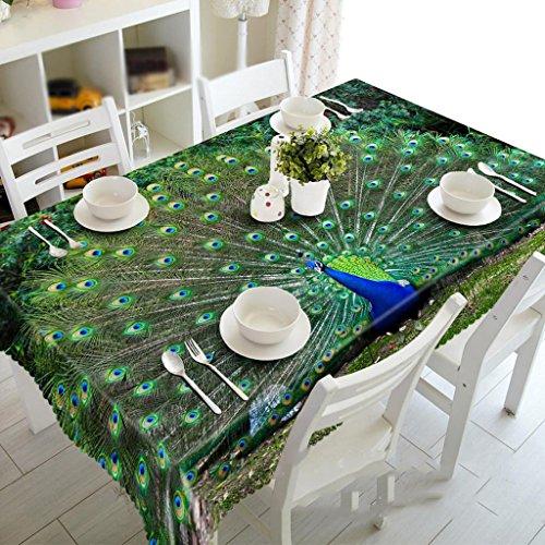 Preisvergleich Produktbild Grüner Pfau offener Bildschirm, staubdichte 3D Tischdecken, Umwelt geschmacklos, Digitaldruck, Teemaschine Tuch , #1 , 150*260cm