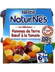 Nestlé Bébé Naturnes Pommes de Terre Bœuf à la Tomate Plat Complet dès 6 Mois 2 x 200 g
