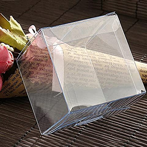 Etbotu Löschen Sie quadratische Plastikboxen für Hochzeitsfest Geschenk Bevorzugung