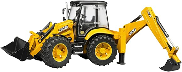 Bruder JCB 5CX Eco Backhoe Loader Toy Truck for Kids (Multicolour)