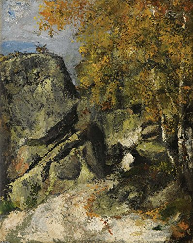 Das Museum Outlet - Rocks at Fontainebleau Forest, 1865-68 - A3 Poster