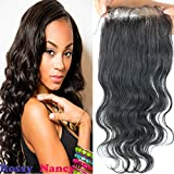 Rossy&NancyBrazilian Body Wave Top Closure Unprocessed Human Hair Lace Closure Bleached Knots With Baby Hair Free...