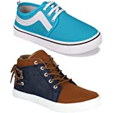 Shoefly Men Multicolour Latest Collection Sneakers Shoes-Pack of 2 (Combo-(2)-678-9105)