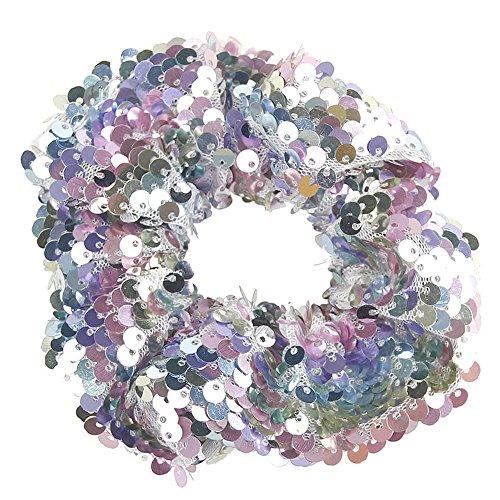 Likecrazy Damen Haarbänder Stirnband elastische Pailletten Ringe Haargummibänder GläNzend Vintage Kopfbedeckungen Stretchy Elegant Haarschmuck Haarkranz Haarbänder Accessoires