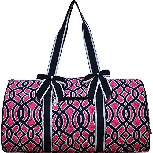 navy-pink-geometric-vine-pattern-gym-travel-dance-cheer-baby-duffle-bag-by-ngil