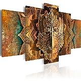 murando - Bilder 200x100 cm - Vlies Leinwandbild - 5 TLG - Kunstdruck - modern - Wandbilder XXL - Wanddekoration - Design - Wand Bild - AFFE Gold Ornament n-A-0051-b-n