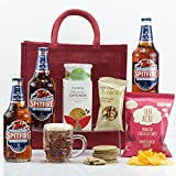 Natures Hampers Englisches Ale Geschenk Tasche - Luxus Ale Geschenk-Set - Bier & Snacks - Geburtstag für ihn - Papa Geschenk - Weihnachtsgeschenk