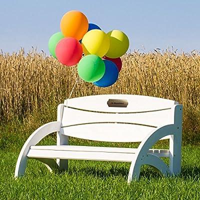 Geschenke 24 Gravierte Geburtstagsbank mit Lehne - personalisierte Gartenbank für Männer und Frauen - ein schönes Geschenk zum Geburtstag