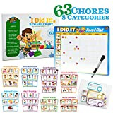 Chore Chart Behavior Chart for Kids that Kids Will Love 49 Responsibility and Behavior Chores Rewards Chart - Ultra Thick Magnetic Board
