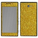 atFolix Sony Xperia M2 Skin FX-Glitter-Gold-Rush Designfolie Sticker - Reflektierende Glitzerfolie