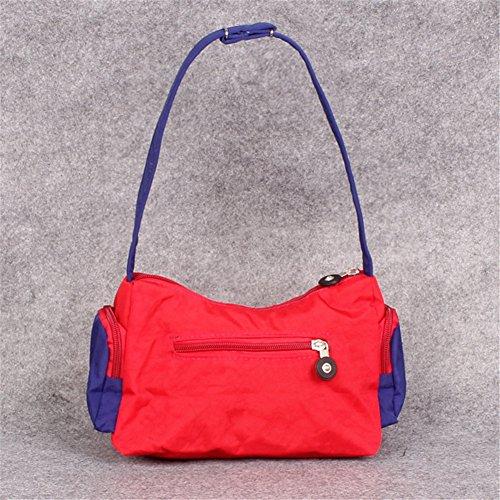Nuevos Estilos Venta Gran Venta Fortunings JDS® Singolo sacchetto di spalla borsa trendy unico di tela nera borsa a mano tote rosso Genuina Precio Barato SdO4VbL