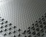 Dunkelgrau–Garage/Werkstatt/Showroom Bodenbelag EVA Schaumstoff Matten Fliesen Interlocking–in–4Stück 16sq FT