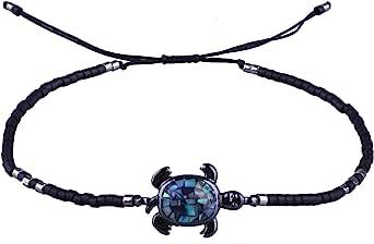 KELITCH Perline Miyuki Abalone Tartaruga Braccialetti Attorcigliati di Amicizia del Braccialetto del Nuovo di Tartaruga Braccialetti Registrabili