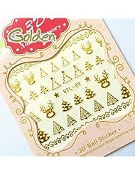 Nail Art Nass Abziehbilder Nagel Aufkleber Nail Art 3D sticker Aufkleber Weihnachten - DTL089 Nail Sticker Tattoo - FashionLife
