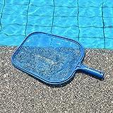 Nabati azul profesional Red espumadera de malla de hojas de plástico rastrillo herramienta de limpieza para piscina estanque Hot Tub Fountain Fish Tank (1#)