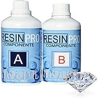 Resin Pro - 320 GR Résine Èpoxy Transparente non Toxique - Bicomposant A+B, Effet d'Eau, Polissage, pour Créations…
